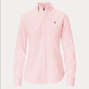 Knit cotton oxford Ralph Lauren short pink